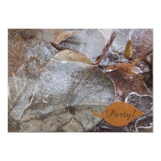 Fiesta helado de las hojas de otoño invitación 12,7 x 17,8 cm
