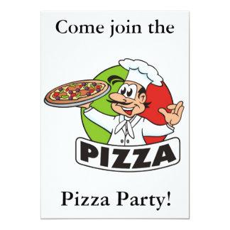 fiesta invitation2 de la pizza invitación 12,7 x 17,8 cm