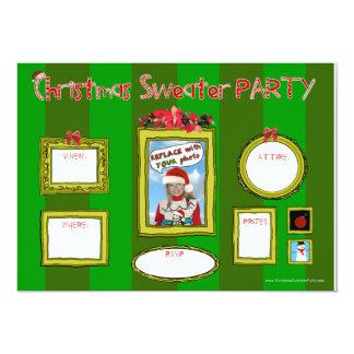Fiesta Invitation_template1 del suéter del navidad Invitación 12,7 X 17,8 Cm