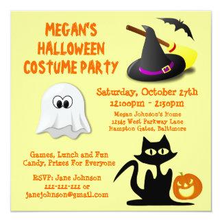 Fiesta lindo de encargo de Halloween del fantasma Invitación 13,3 Cm X 13,3cm