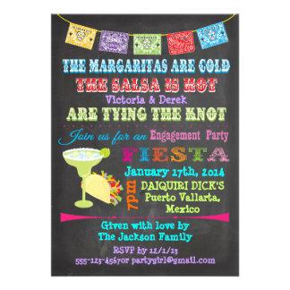 Fiesta mexicana de la pizarra con la parte anuncio personalizado