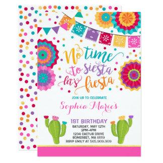 Fiesta mexicana del cumpleaños de la invitación