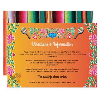 Fiesta mexicana que casa tarjetas del Info Invitación 8,9 X 12,7 Cm