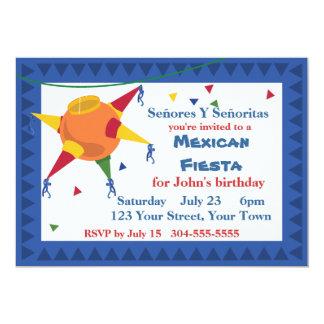 Fiesta mexicano de la fiesta del Pinata Invitación 12,7 X 17,8 Cm