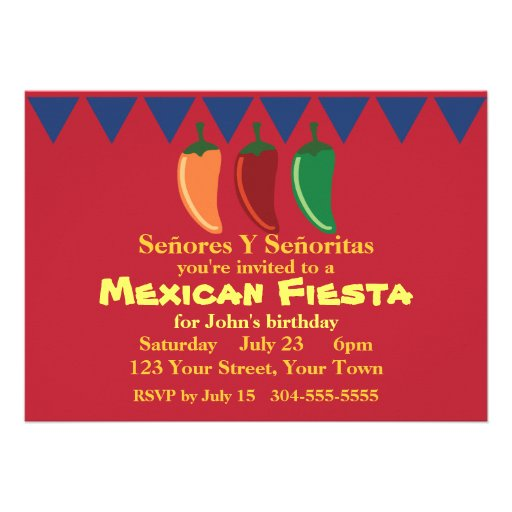 Fiesta mexicano de la fiesta anuncios personalizados