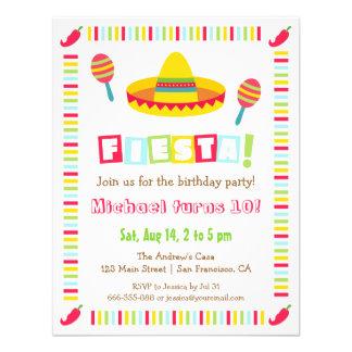 Fiesta mexicano de los niños de la fiesta del invitaciones personalizada