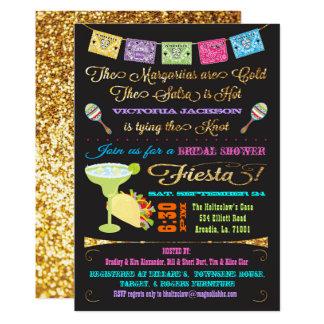 Fiesta nupcial del Tacos y del mexicano de la Invitación 12,7 X 17,8 Cm