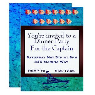 Fiesta para el capitán invitación 16,5 x 22,2 cm