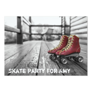Fiesta patinador, patín de ruedas, invitación de