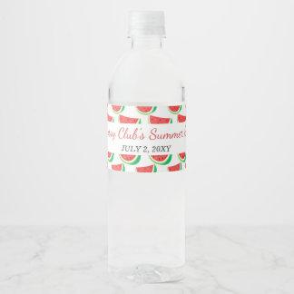 Fiesta personalizado del verano del modelo de la etiqueta para botella de agua