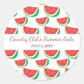 Fiesta personalizado del verano del modelo de la pegatina redonda
