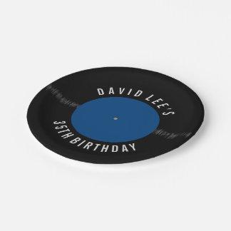 Fiesta personalizado disco de vinilo retro del plato de papel