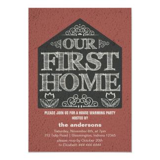 Fiesta que se calienta de la primera casa casera invitación 12,7 x 17,8 cm