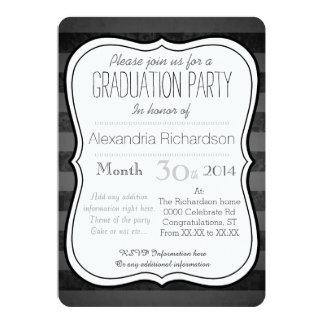 Fiesta real blanco elegante de Graduaton de la Invitación 12,7 X 17,8 Cm