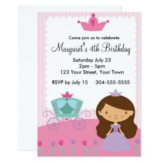 Fiesta real de la princesa cumpleaños invitación 12,7 x 17,8 cm
