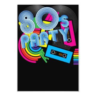Fiesta retro 80 invitación 12,7 x 17,8 cm