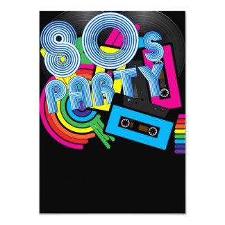 Fiesta retro 80 invitación 11,4 x 15,8 cm