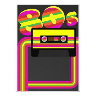 fiesta retro 80s invitación 13,9 x 19,0 cm