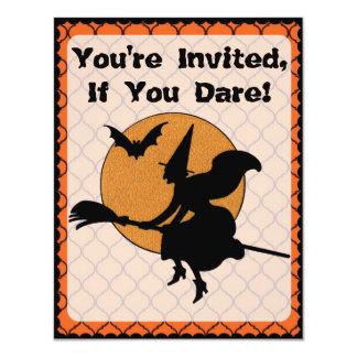 Fiesta retro de Halloween de los años 60 Invitación 10,8 X 13,9 Cm