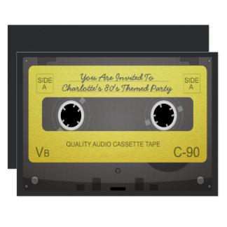 fiesta retro de la cinta de la música del estilo invitación 12,7 x 17,8 cm