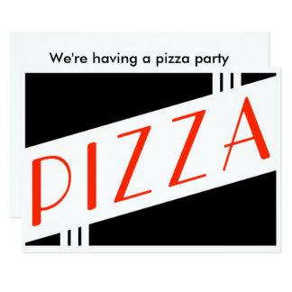 fiesta retro de la pizza invitación 12,7 x 17,8 cm