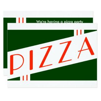 fiesta retro de la pizza invitación 8,9 x 12,7 cm