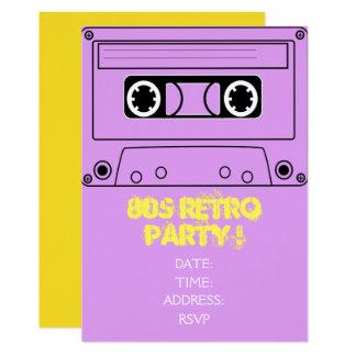 fiesta retro del tema de los años 80 invitación 12,7 x 17,8 cm