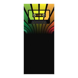 Fiesta retro invitación 10,1 x 23,5 cm