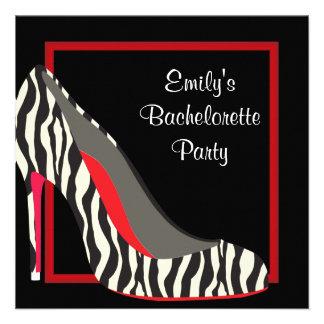 Fiesta rojo de Bachelorette de los zapatos del tac Comunicado Personal
