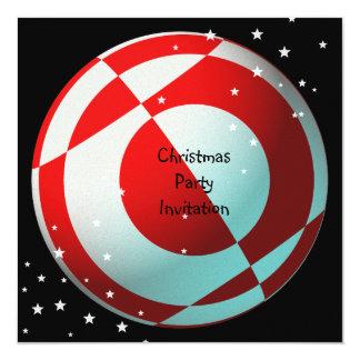 Fiesta rojo y blanco del fútbol invitación 13,3 cm x 13,3cm
