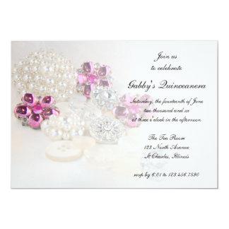 Fiesta rosado de Quinceañera de los botones del Anuncio Personalizado