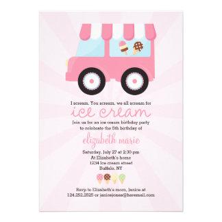 Fiesta rosado lindo del helado anuncio personalizado