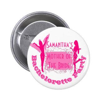 Fiesta rosado personalizado del bachelorette pin