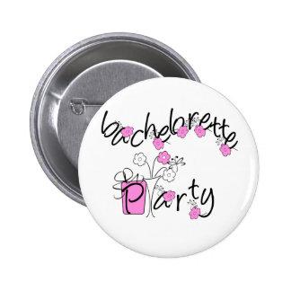 Fiesta rosado y negro de Bachelorette de las flore Pins