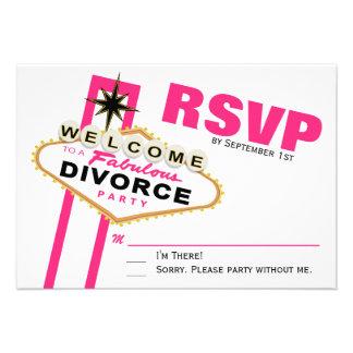 Fiesta RSVP del divorcio de Las Vegas Anuncio