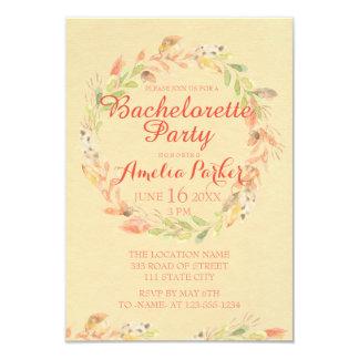 Fiesta rústico de Bachelorette de la acuarela de Invitación 8,9 X 12,7 Cm