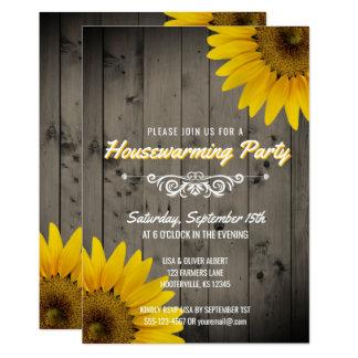 Fiesta rústico del estreno de una casa de los invitación 12,7 x 17,8 cm