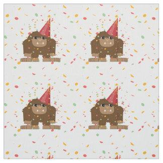 Fiesta Sasquatch Bigfoot del confeti Telas