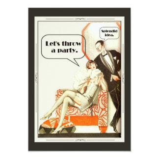 Fiesta simplemente fabuloso del art déco invitación 12,7 x 17,8 cm