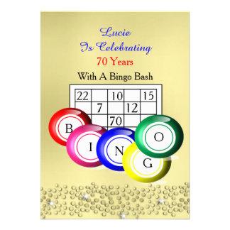 Fiesta temático del bingo colorido de la diversión comunicado