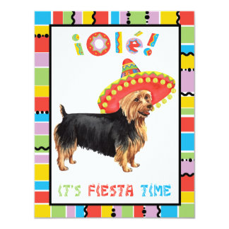 Fiesta Terrier australiano Invitación 10,8 X 13,9 Cm