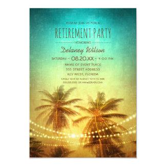 Fiesta tropical de CorporateRetirement de la playa Invitación 12,7 X 17,8 Cm