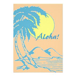 Fiesta tropical de Luau de la isla de la hawaiana Anuncio