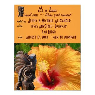 Fiesta tropical de Tiki Luau Invitación 10,8 X 13,9 Cm