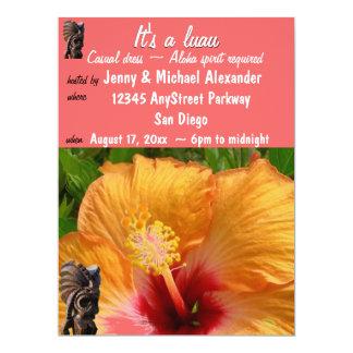 Fiesta tropical de Tiki Luau Invitación 16,5 X 22,2 Cm