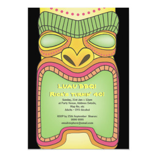 Fiesta tropical hawaiano de la playa del tema de invitación 12,7 x 17,8 cm
