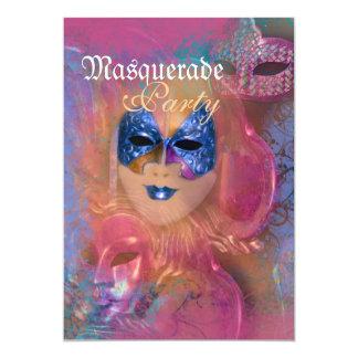 Fiesta veneciano del carnaval de la máscara de la comunicado personal