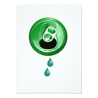 Fiesta verde de la cerveza invitación 13,9 x 19,0 cm