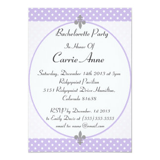 Fiesta violeta de deslumbramiento de Bachelorette Invitación 12,7 X 17,8 Cm
