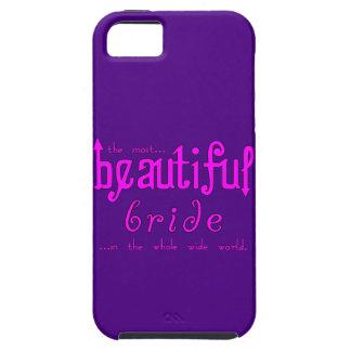 Fiestas de bodas y novia hermosa de las duchas nup iPhone 5 Case-Mate funda